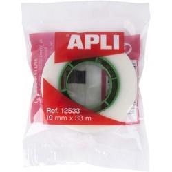 APLI - CINTA ADHESIVA INVISIBLE 19 MM X 33 M APLI 12533
