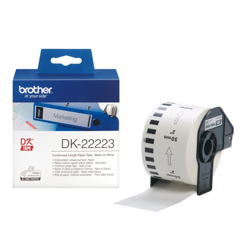 Brother - DK-22223 etiqueta de impresora Blanco