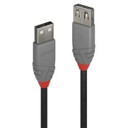 Lindy - 36702 cable USB 1 m USB 20 USB A Negro Gris