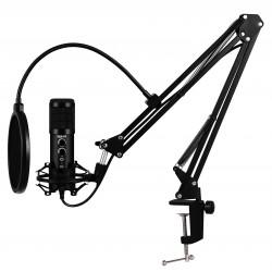 iggual - Micrfono USB con brazo ajustable Pro Voice