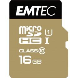 Emtec - microSD Class10 Gold 16GB memoria flash MicroSDHC Clase 10