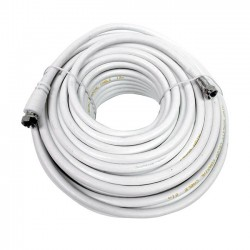 Engel - CA1901D cable coaxial 20 m F Blanco