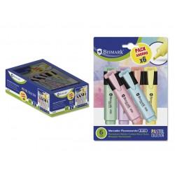 Bismark - Rotulador Fluorescente Pastel Blister 6 Uds