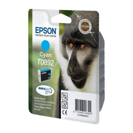 Epson - Monkey Singlepack Cyan T0892 DURABrite Ultra Ink - C13T089240