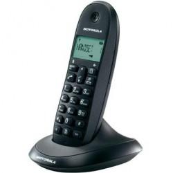 Motorola - C1001L Telfono DECT Negro Identificador de llamadas
