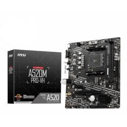 MSI - A520M PRO-VH AMD A520 Zcalo AM4 micro ATX