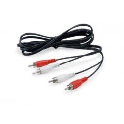 Equip - 147094 cable de audio 25 m 2 x RCA Negro