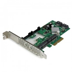 StarTechcom - Tarjeta Controladora SATA III RAID PCI Express 20 con 2 Ranuras mSATA Emparejamiento HyperDuo para SSD