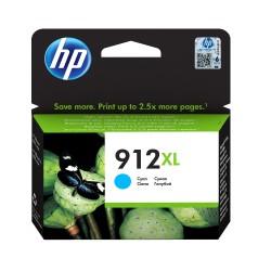 HP - 912XL cartucho de tinta 1 piezas Original Alto rendimiento XL Cian