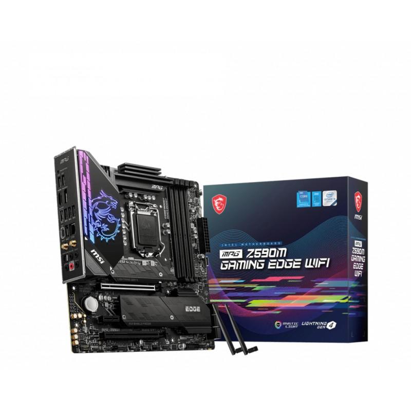 MSI - MPG Z590M Gaming Edge Wifi Intel Z590 LGA 1200 micro ATX