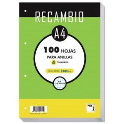 Pacsa - Recambio A4 100 Hojas