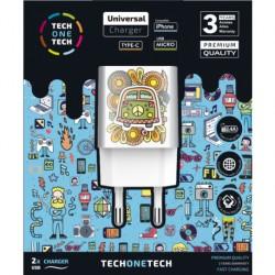 TECH1TECH - TEC2503 cargador de dispositivo mvil Blanco Interior