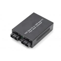 Digitus - DN-82124 convertidor de medio 1000 Mbit/s 1310 nm Multimodo Monomodo Negro