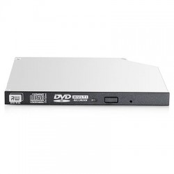 Hewlett Packard Enterprise - 95mm SATA DVD-RW JackBlack Gen9 Optical Drive unidad de disco ptico Interno Negro Gris DVD Super