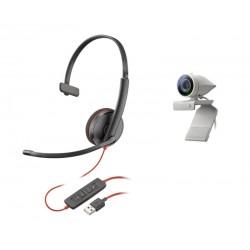 POLY - Studio P5 Kit sistema de video conferencia 1 personass Sistema de vdeoconferencia personal - 2200-87120-025