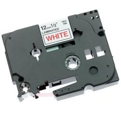Brother - Gloss Laminated Labelling Tape - 12mm Red/White cinta para impresora de etiquetas TZ