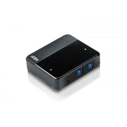Aten - Switch de perifricos USB 32 Gen1 de 2 x 4 puertos