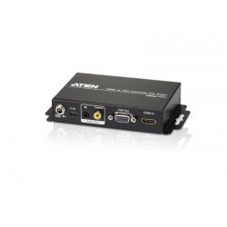 Aten - Conversor de HDMI a VGA/Audio con escalador