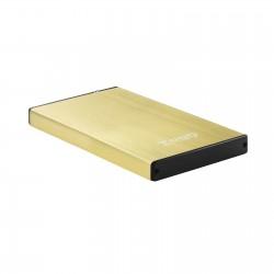 TooQ - TQE-2527GD caja para disco duro externo Caja de disco duro HDD Negro Oro 25