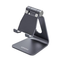 AISENS - Soporte De Sobremesa Tamao M Ajustable 1 Pivote Para Movil / Tablet Gris
