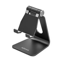 AISENS - Soporte De Sobremesa Tamao M Ajustable 1 Pivote Para Movil / Tablet Negro