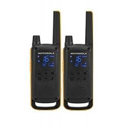 Motorola - Talkabout T82 Extreme Twin Pack two-way radios 16 canales Negro Naranja - 188069