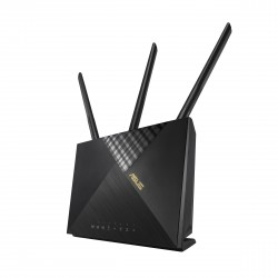 ASUS - 4G-AX56 router inalmbrico Gigabit Ethernet Doble banda 24 GHz / 5 GHz 3G Negro
