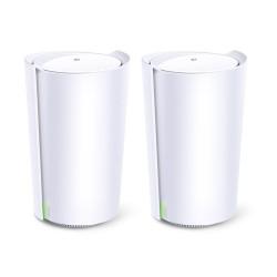 TP-LINK - Deco X90 2-pack Tribanda 24 GHz/5 GHz/5 GHz Wi-Fi 6 80211ax Blanco Interno