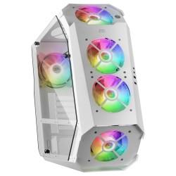 Mars Gaming - MC51W Caja PC Gaming ATX Doble Cristal Templado 5xVentilador RGB Blanco