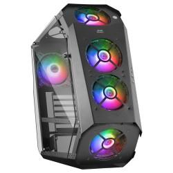 Mars Gaming - MC51 Caja PC Gaming ATX Doble Cristal Templado 5xVentilador RGB Negro