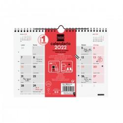 Finocam - Calendario Neutro de Pared para Escribir 2022