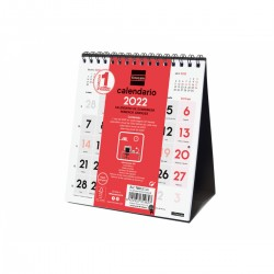 Finocam - Calendario Neutro de Sobremesa Nmeros Grandes 2022