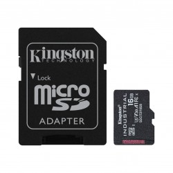 Kingston Technology - Industrial memoria flash 16 GB MicroSDHC UHS-I Clase 10 - SDCIT2/16GB