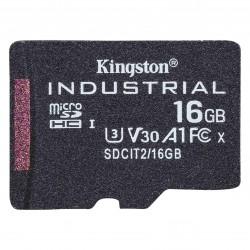 Kingston Technology - Industrial memoria flash 16 GB MicroSDHC UHS-I Clase 10 - SDCIT2/16GBSP