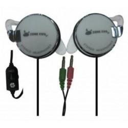 ZE - -XPORT-WHITE auricular y casco Auriculares gancho de oreja Conector de 35 mm Gris