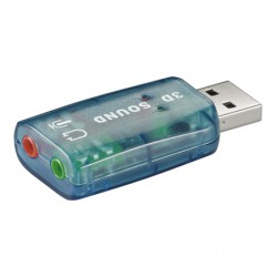 Goobay - USB - Soundcard 20 OHL 20 canales