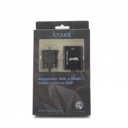 iggual - Adaptador VGA a HDMI  audio  microUSB VGA D-Sub