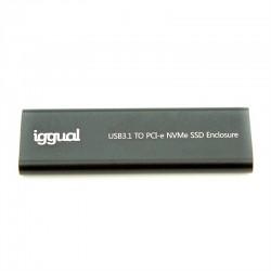 iggual - Caja externa USB-C 31 SSD M2 NVMe y SATA