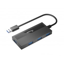 Equip - 128956 hub de interfaz USB 32 Gen 1 31 Gen 1 Type-A 5000 Mbit/s Negro