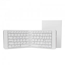 Leotec - mini teclado bluetooth plegable Blanco