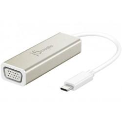 j5create - JCA111 Adaptador grfico USB 1920 x 1080 Pixeles Aluminio Blanco