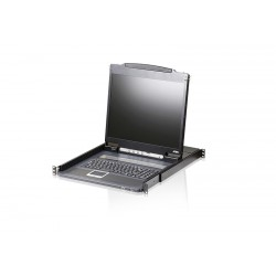 ATEN - Consola LCD single rail de peso reducido VGA PS/2-USB