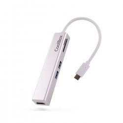 CoolBox - miniDock USB-C Lite Almbrico USB 32 Gen 1 31 Gen 1 Type-C Blanco
