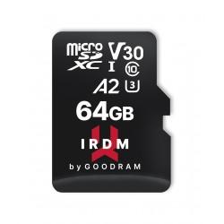 Goodram - MICROCARD IRDM M2AA A2 memoria flash 64 GB MicroSDHC UHS-I