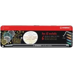 STABILO - Pen 68 Metallic rotulador Medio Metlico Multicolor 6 piezas