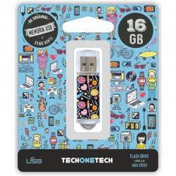 TECH1TECH - TEC4001-16 unidad flash USB 16 GB USB tipo A 20 Multicolor