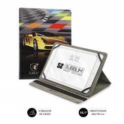 SUBBLIM - Funda Tablet Universal TRENDY CASE SUPER CAR 101