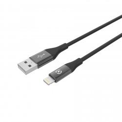 Celly - USBLIGHTCOLORBK cable de conector Lightning 1 m Negro