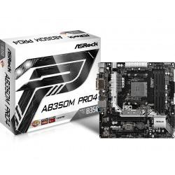 Asrock - AB350M Pro4 Zcalo AM4 micro ATX AMD B350