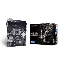 Biostar - H61MHV3 placa base Intel H61 LGA 1155 Socket H2 micro ATX